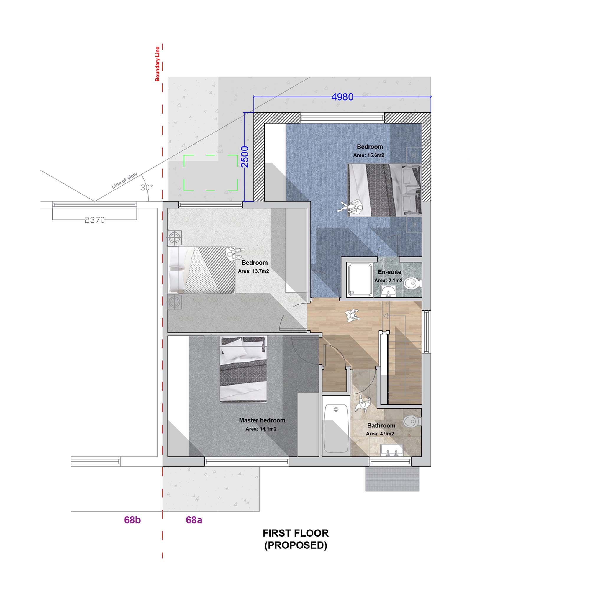 Palmers Green Extension First Floor Plan