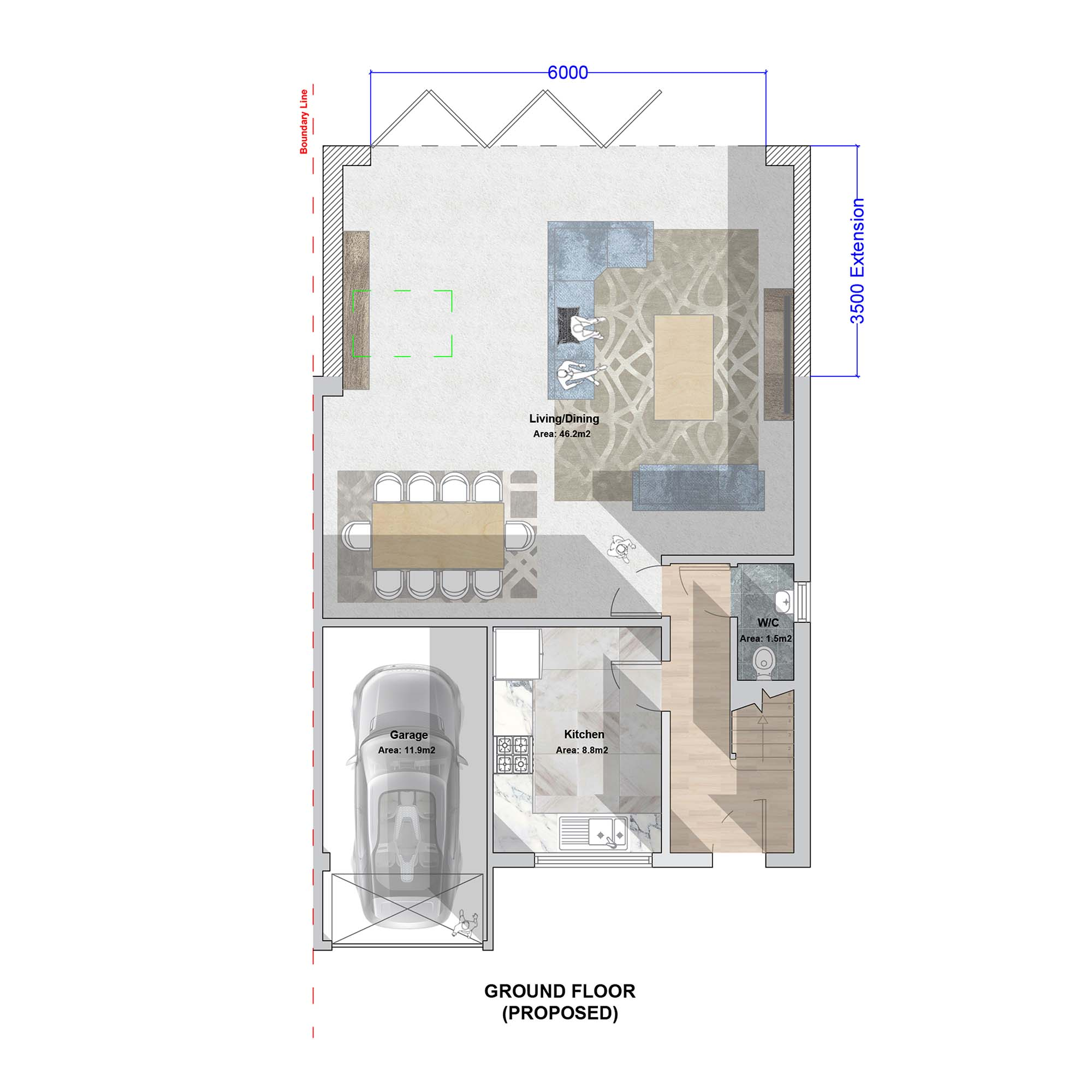 Palmers Green Extension Ground Floor Plan
